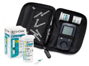 Accu-Chek Active blood glucose meter and strips
